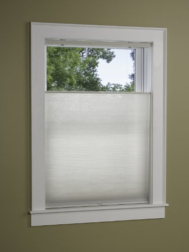 Green Mountain Vista EZ-Glide Top Down Bottom UP Cordless Pleated Cellular Shade, 36 by 64-Inch, White