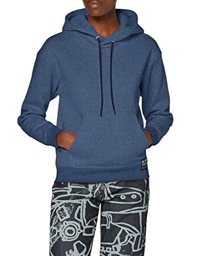 G-STAR RAW Womens Premium Core Hooded Sweatshirt, Worn in Kobalt Htr C235-C102, L