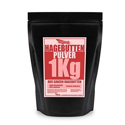 NUTRI UP Hagebuttenpulver 1KG | aus ganzen Hagebutten | Rohkostqualität, 100% natürlich -ohne Zusatzstoffe- keine Zugabe von Zucker, schonend gemahlen