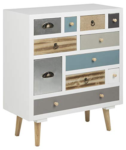 AC Design Furniture Suwen Buffet, MDF, Blanc, L: 32 x l: 70 x H: 81 cm