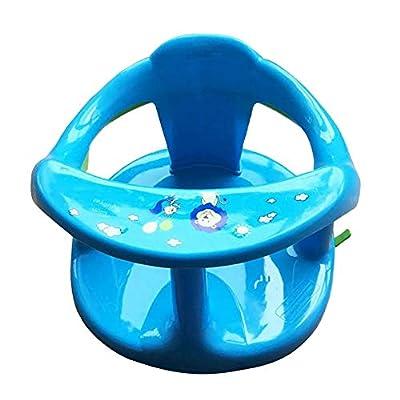 Baby Bath Seat, Springhall Infant Bath Chair, Non-Slip Toddler Bath Seat for Bathtub Foldable Safety Bathtub Seat for Sit-Up Bathing with Anti-Slip Round Edge