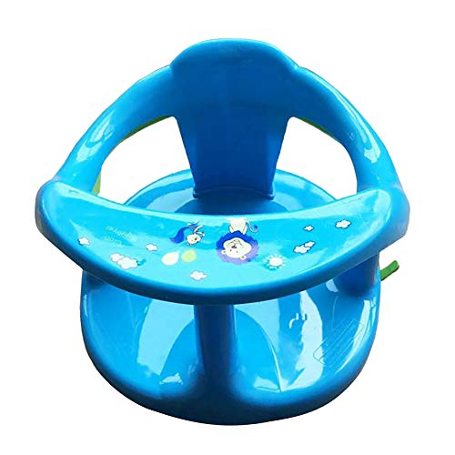 Baby Bath Seat, Springhall Infant Bath Chair, Non-Slip Toddler Bath Seat for Bathtub Foldable Safety Bathtub Seat for Sit-Up Bathing with Anti-Slip Round Edge