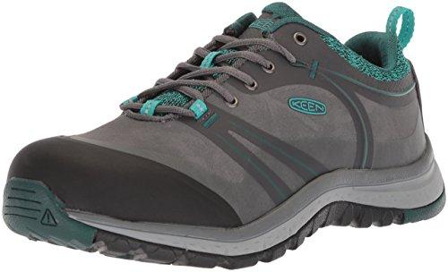 KEEN Utility Women's Sedona Pulse Low Alloy Toe Industrial Work Shoe, Magnet/Baltic, 9 Wide US