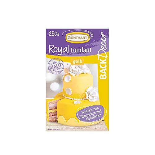 Günthart BackDecor Royal Fondant | Fondant gelb | 250 g | Palmöl frei | Modelliermasse | Licht | Sonne | Sonnenschein
