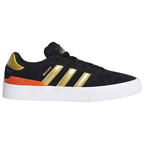 adidas Busenitz Vulc II (Core Black/Gold Metallic/Solar Red) Men's Skate Shoes-10