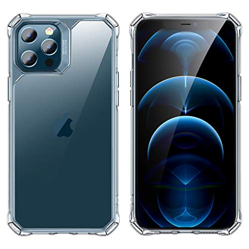 ESR Crystal-Clear Rugged Case Compatible with iPhone 12 Pro Max [Enhanced Air-Guard Corner Protection] [Long-Lasting Clarity] – Clear