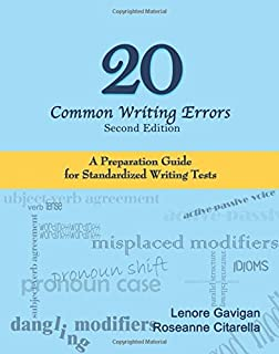 20 Common Writing Errors: A Preparation Guide For Standardized Writing Tests