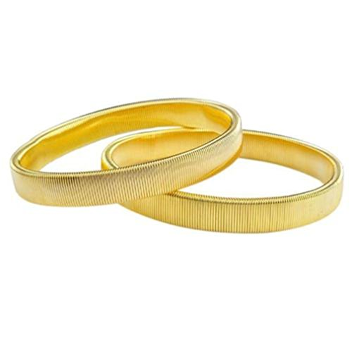 HENGSONG 2 Stück Damen Herren Hemd Ärmelhalter Sleeve Holders Anti Rutsch Armband Elastisch Bracelet für Langarm Shirt Bluse Kleidung Zubehör (Gold)