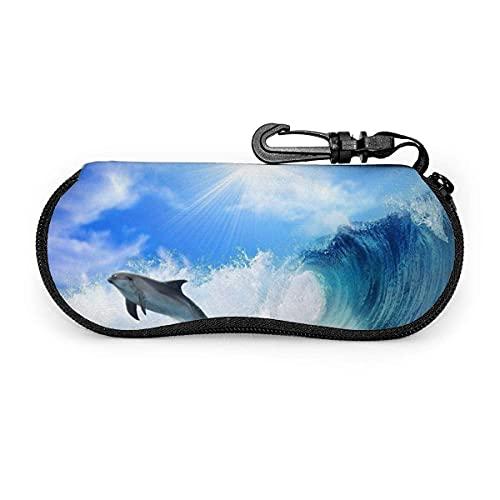 Dolphin Jump Ocean Waves Animal - Gafas de sol con cierre de hebilla