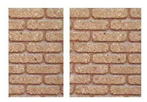 Generico ricevi 2 Pannelli Mattoni di Sughero 33x25 cm Spessore 10 mm Foglio Pannello per PASTORI PRESEPE San Gregorio ARMENO Artigianali sheperds Crib