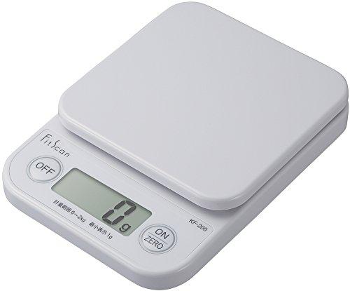 タニタ クッキングスケール キッチン はかり 料理 デジタル 2kg 1g単位 ホワイト KF-200 WH