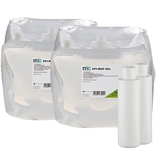 Epi-Med Gel 2x 5 Liter Cubitianer IPL Kontaktgel 10 Liter mit Leerflasche