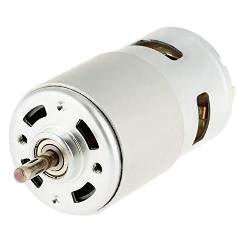 Motor de CC en miniatura, 795 12 V 16000 RPM, rodamiento de bolas doble de alta velocidad, motor eléctrico de CC en miniatura reversible de alta reducción de par