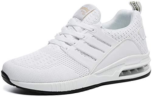 Solshine Damen Turnschuhe Sportschuhe Mesh Air Sneakers Fitness 607 Weiss 42EU