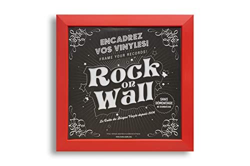 Rot Rock on Wall Bilderrahmen MaÃ?e 378 x 378 x 20 mm
