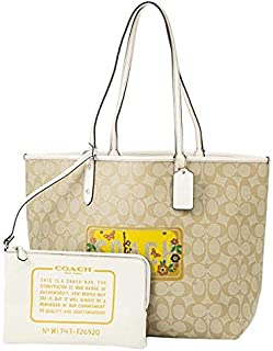 Coach F26920 IMDQC Signature Reversible City Tote NY New York Road Trip Motif Shoulder Handbag