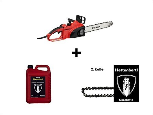 Dolmar Elektrokettensäge ES-39TLC 35 cm Schwert + 2ter Kette + 5l Kettenbertl Premium Sägekettenöl