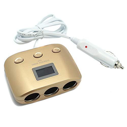 Chargeur de voiture, double USB avec allume-cigare de voiture d'affichage, approprié aux dispositifs mobiles