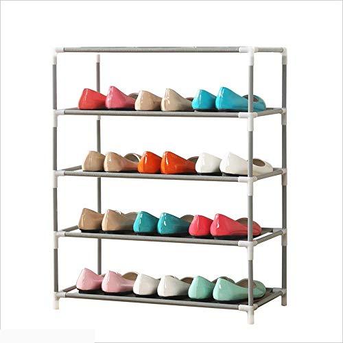 Busirsiz Zapatero Zapatos de Moda Conjunto de ordenación de Tubos de Acero Creative Multi-Capa a Prueba de Polvo