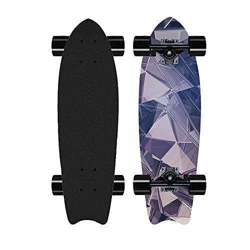 Monopatín Universal, Skateboard Cruiser Pro, Surf Longboard de 28 Pulgadas, Adecuado para niños, Adolescentes y Adultos-Di_28 Pulgadas