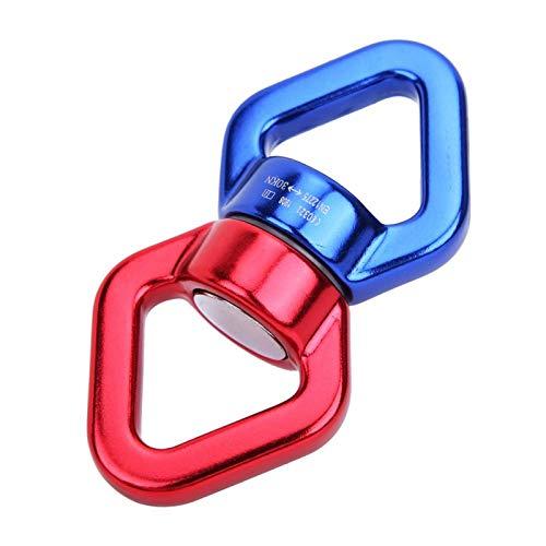 SALUTUYA Dispositivo de rotación Swing Spinner Dispositivo de rotación más Seguro Durable Sin fricción Resistente para el Columpio de Cuerda de neumático de árbol Web con rotación Libre de(Blue Red)