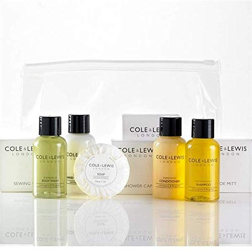 Cole & Lewis Deluxe Gäste Toilettenartikeln. Enthält: Shampoo, body wash, Hand & Body Lotion, Conditioner, Seife, Dental-Kit, Nähset, Schuh Mitt, Dusche Gap, Vanity Kit