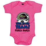 Body bebé parodia baby Yoda mi equipo de fútbol Força Barcelona - Rosa, 12-18...