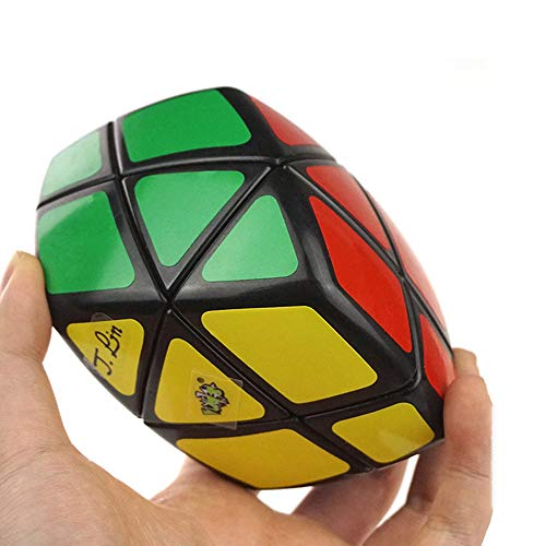 Yealvin Rhombic Face Skewb Cube Black Curvy Speed Cube Puzzle Cube Brain Teaser