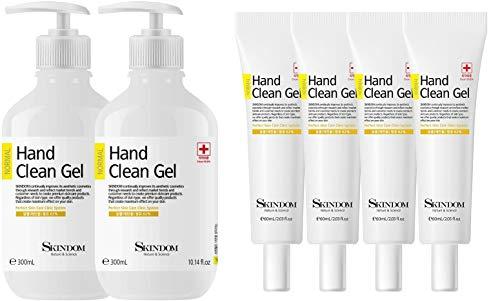 Hand Sanitizer Clean Gel (2 Pack x 10.14 Fl Oz) Bundled with Hand Sanitizer Clean Gel (4 Pack x 2 Fl Oz)