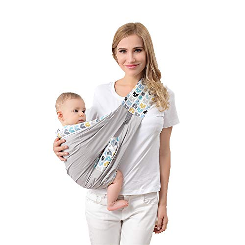Mother World Sling for Newborns Soft Infant wrap Breathable Baby Carrier (Blue)