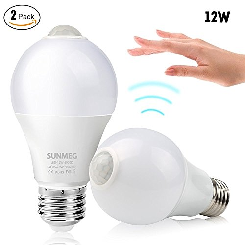 Sunmeg Motion Sensor Light bulb 2 Pack