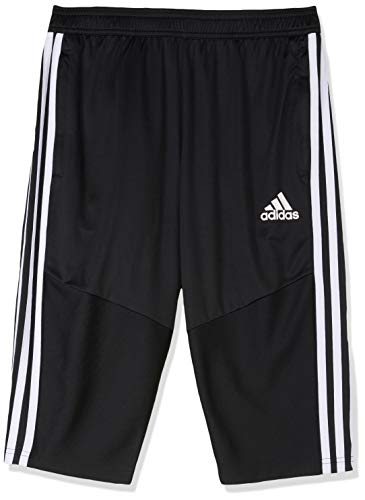 adidas TIRO19 3/4 Pants, Black/White, 7-8A