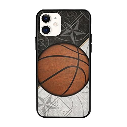 Diseño deportivo de baloncesto compatible con iPhone 11 Pro Max-6.5, funda protectora de TPU antideslizante para teléfono celular para mujeres, hombres, niñas y regalos