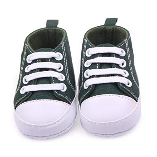 Beautymade Baby Boy Toddler First Walkers Cotton Canvas Shoes Infant Sneaker Straps Soft Bottom Non-Slip Casual Shoes