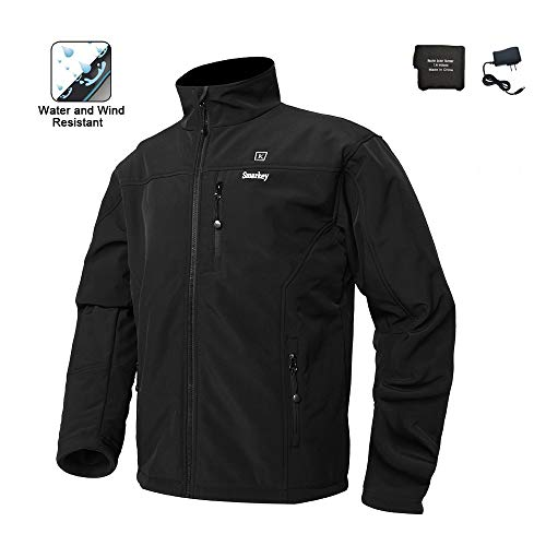 Smarkey Cordless Heated Jacket Carbon Fiber Electric Heating Clothing Male Jacket Thermal Clothing with 1PCS 5200mah Battery (M-US)