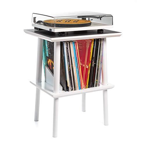Premium Record Player/Turntable Stand w/Vinyl Storage