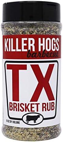 Killer Hogs BBQ TX Brisket Rub Championship BBQ and Grill Seasoning for Texas Brisket Great product image
