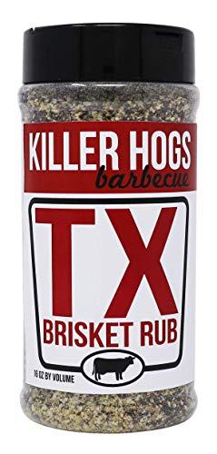 Killer Hogs BBQ TX Brisket Rub | Championship BBQ and Grill Seasoning for Texas Brisket | Great on Brisket, Ribs, Steaks, or Turkey | 16 oz