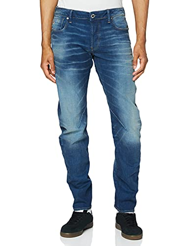 G-STAR RAW Arc 3D Slim Fit' Jeans, Worker Blue Faded, 33W / 32L Uomo