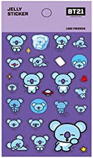 STUDIO8 X BT21 BTS Official Merchandise Jelly Sticker by Bangtan Boys + Additional BTS PHOTOCARDS (Random) Love Yourself (KOYA)