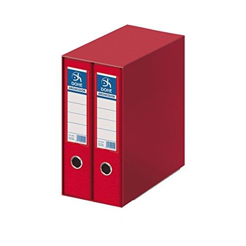 Dohe Archicolor - Módulo 2 archivadores A4, color rojo ⭐