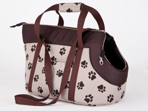 Hobbydog TOR bwl4 Sac de Transport pour Chien et Chat, 27 x 25 x 43 cm, Biege avec Pattes