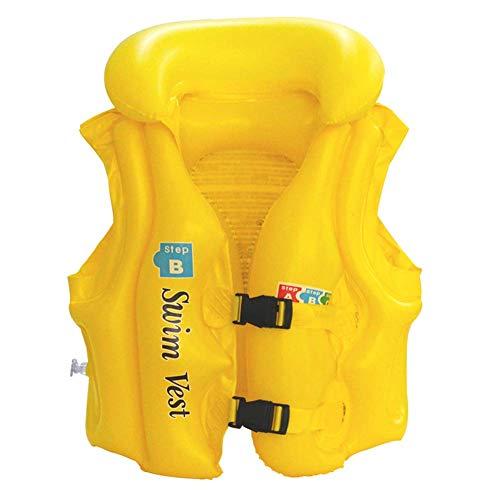 Den roliga designen drar ditt barn på semestern, hemma eller på vänner och kända blickar. Simväst, simhjälp – deluxe badväst (gul, M)