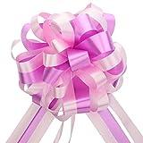 EDATOFLY 10 Piezas Lazos Regalos Grandes, Lazos Grandes para Navidad, Bodas, Fiestas, Decoración del Día de San Valentín y Envoltura de Regalos de (Rosa)