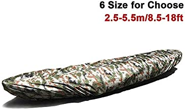Dulcii Universal Camouflage Kayak Canoe Boat Waterproof UV Resistant Dust Storage Cover Shield, 6 Size to Choose (4.5-5.0m/14.7-16.4ft)