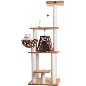 Armarkat A6403 Classic Cat Tree with Basket, 64″, Chocolate