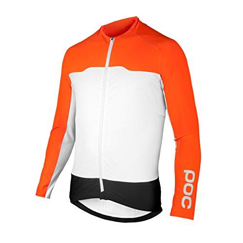 POC Avip LS Camiseta Ciclismo, Hombre, Naranja, XXL