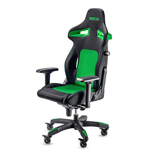 Sparco Gaming 00988NRVD Sedia da Gaming, Nero/Verde