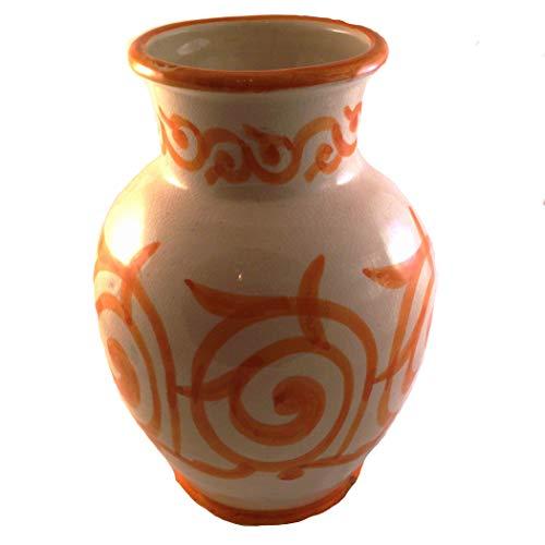 Orientalische Keramik Vase Assfi Groß-Orange