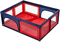 Playpens for Baby Toddler Children, Safety Play Yard, Home Indoor Outdoor New Pen Anti-Fall, Extra Tall 70cm, Red (Size : 150?150cm)